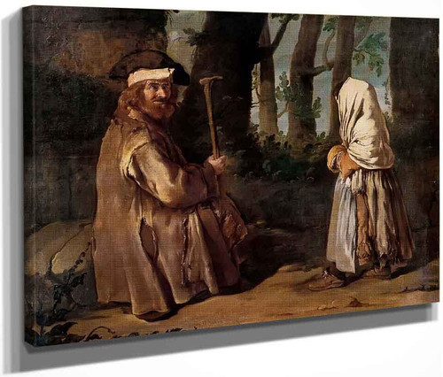 Encounter In The Wood By Giacomo Ceruti