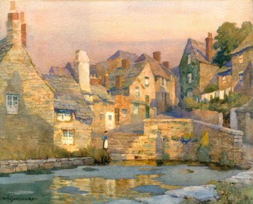 Evening, The Mill Pool, Swanage By Albert Moulton Foweraker