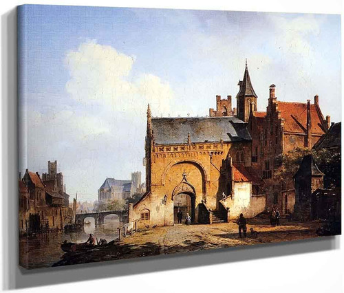 Fantasy Cityview Of Maassluis By Cornelius Springer