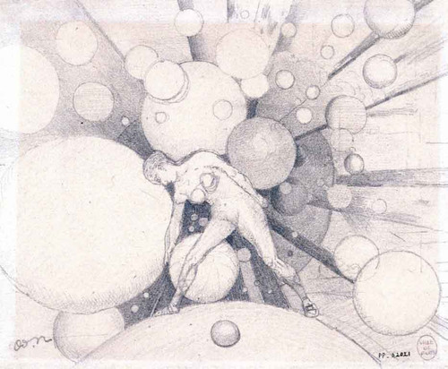 Female Nude Amidst The Spheres By Odilon Redon By Odilon Redon