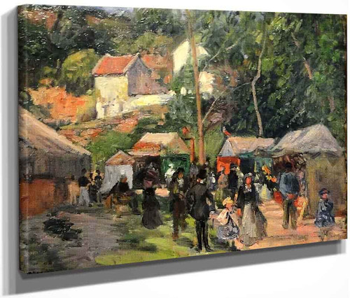 Festival At The Hermitage By Camille Pissarro By Camille Pissarro