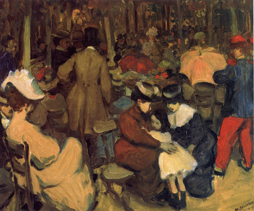 Figures In A Park, Paris By William James Glackens  By William James Glackens