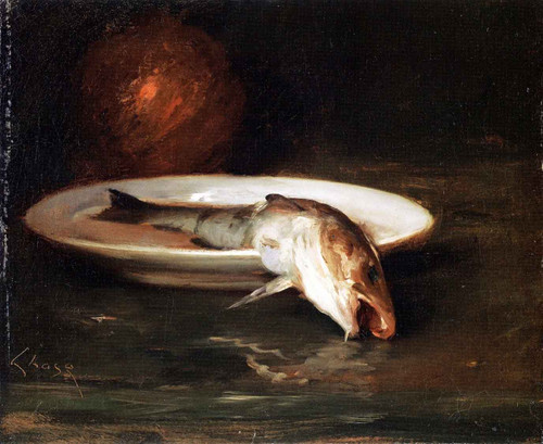 Fish Still Life 1 By William Merritt Chase By William Merritt Chase