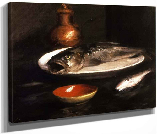 Fish Still Life By William Merritt Chase By William Merritt Chase