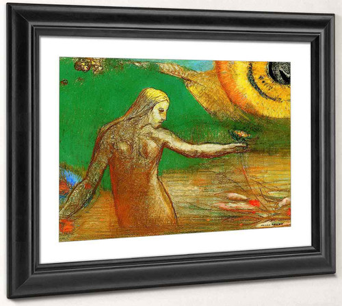 Flower Of Blood By Odilon Redon By Odilon Redon