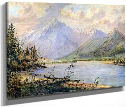 Frasers [Sic] River Camp By James Madison Alden By James Madison Alden