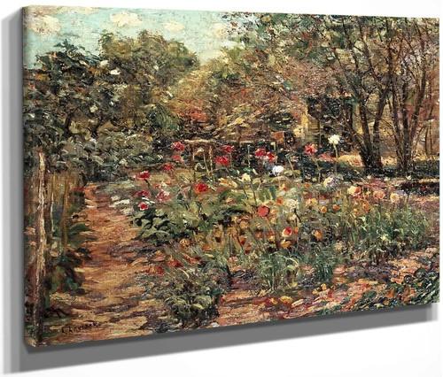 Garden Landscape By Ernest Lawson