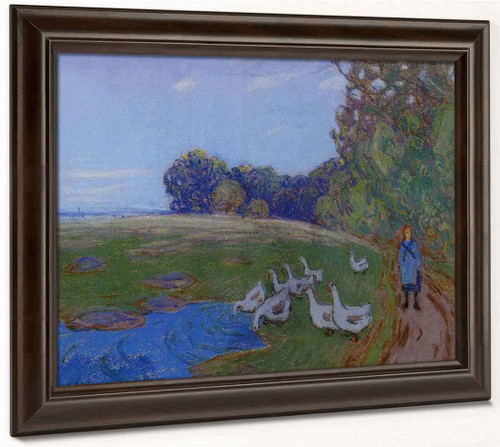 Goose Girl By Alfred Sisley