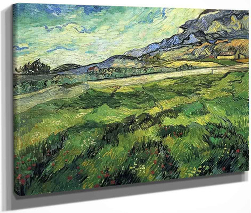 Green Wheatfield By Vincent Van Gogh