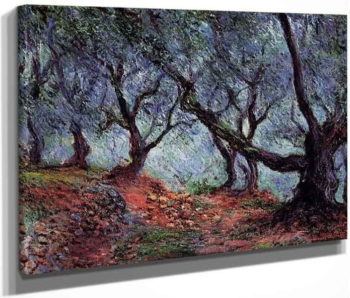 Grove Of Olive Trees In Bordighera By Claude Oscar Monet