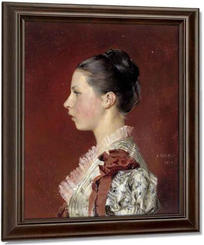 Annie Edelfelt. The Painter's Youngest Siste By Albert Edelfelt Art Reproduction