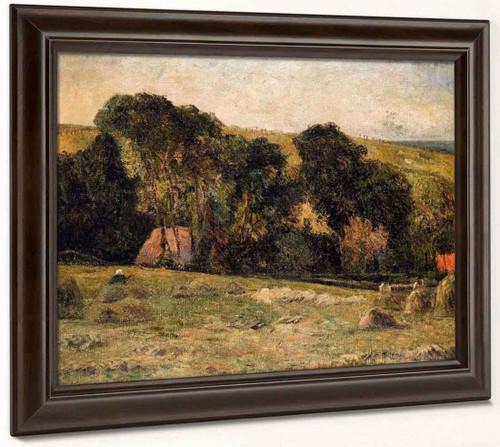 Haymaking Near Dieppe By Paul Gauguin  By Paul Gauguin