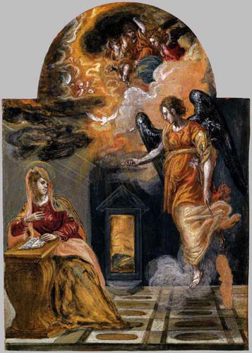 Annunciation1 By El Greco By El Greco