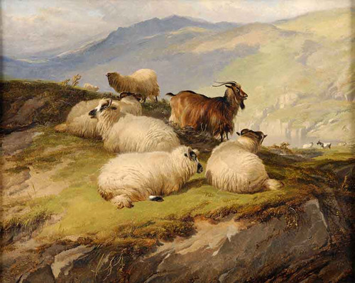 In The Highlands By Thomas Sidney Cooper By Thomas Sidney Cooper