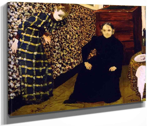 Interior, Mother And Sister Of The Artist By Edouard Vuillard