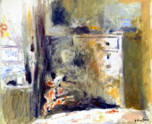 Interior With Woman Sewing By Edouard Vuillard