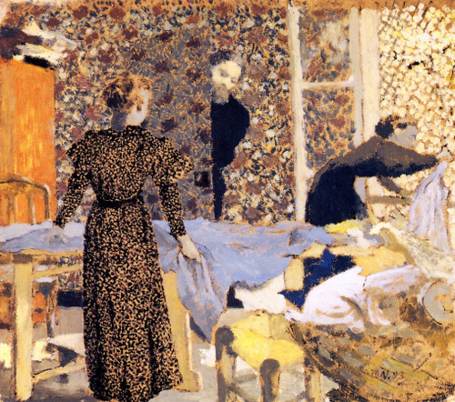 Interior With Work Table By Edouard Vuillard