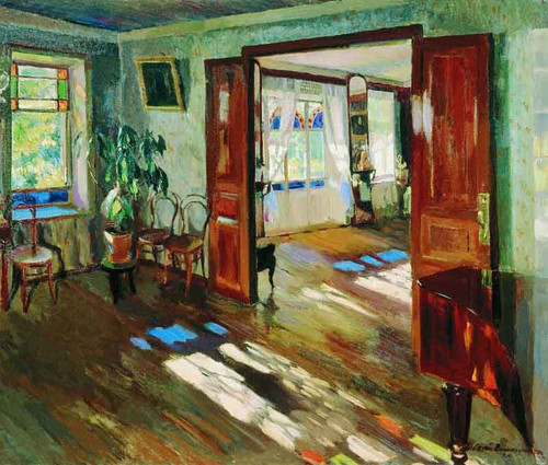 Interior By Sergei Arsenevich Vinogradov Russian 1869 1938