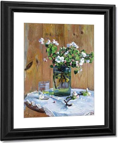 Apple Blossoms By Sergei Arsenevich Vinogradov Russian 1869 1938