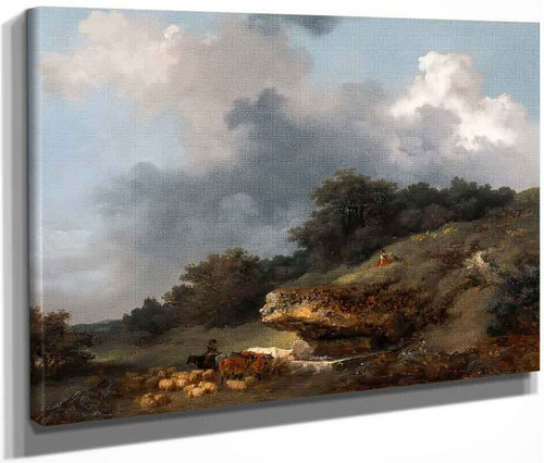 L'abreuvoir  By Jean Honore Fragonard  By Jean Honore Fragonard