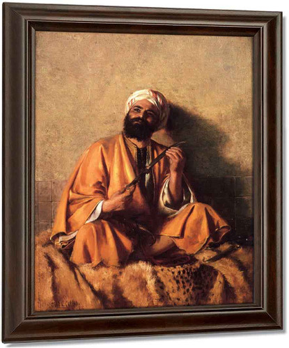Arab Figure With Simitar By Charles Courtney Curran