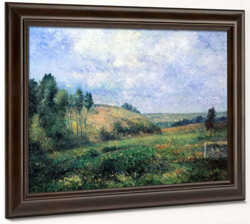 Landscape, Near Pontoise By Camille Pissarro By Camille Pissarro