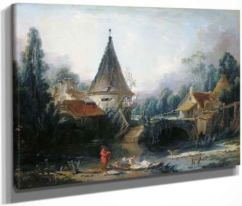 Landscape Near Beauvais By Francois Boucher