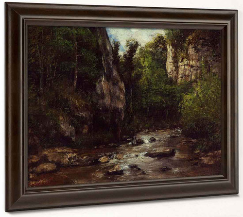 Landscape Near Puit Noir, Near Ornans By Gustave Courbet By Gustave Courbet
