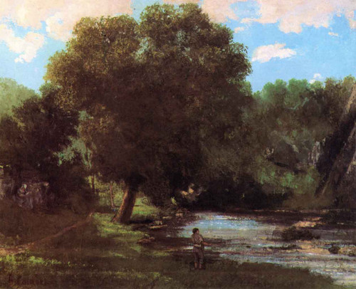 Landscape The Fisherman By Gustave Courbet By Gustave Courbet