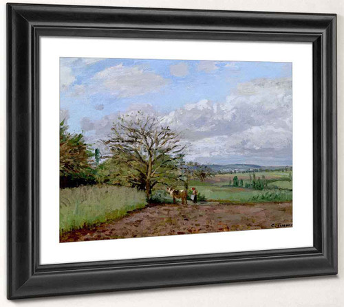Landscape With A Cowherd By Camille Pissarro By Camille Pissarro