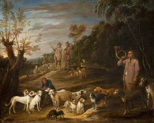 Landscape With Huntsmen And Dogs By David Teniers The Younger