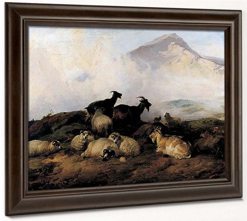 Landscape With Sheep And Goats1 By Thomas Sidney Cooper By Thomas Sidney Cooper