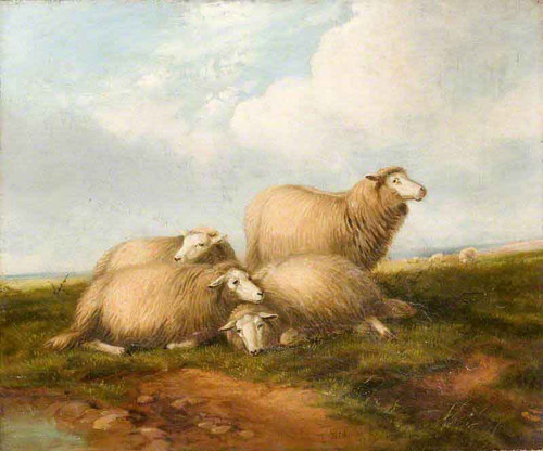 Landscape With Sheep By Thomas Sidney Cooper By Thomas Sidney Cooper