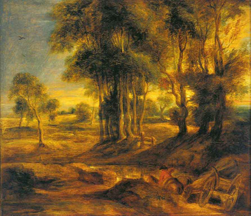 Landscape With The Carriage At The Sunset By Peter Paul Rubens By Peter Paul Rubens
