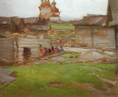 Landscape By Abram Efimovich Arkhipov