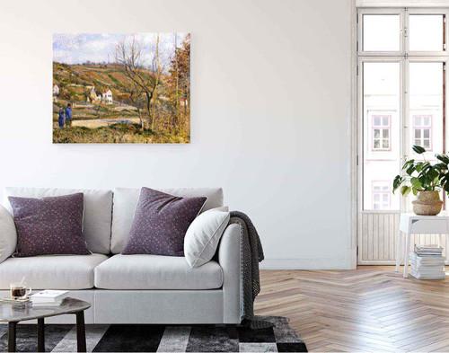 Le Chou Near Pontoise By Camille Pissarro By Camille Pissarro