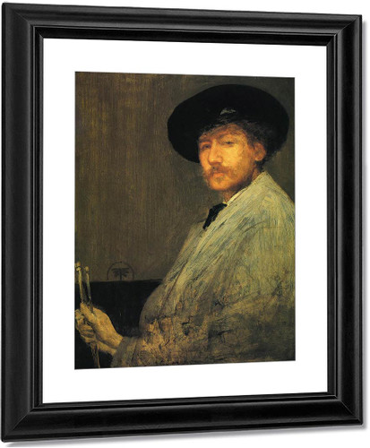 Arrangement In Grey Portrait Of The Painter By James Abbott Mcneill Whistler American 1834 1903
