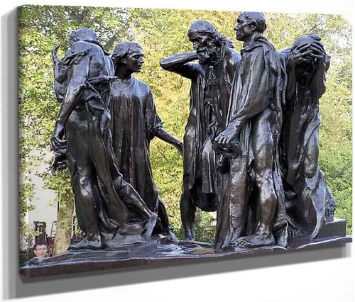 Les Bourgeois De Calais  3 By Auguste Rodin