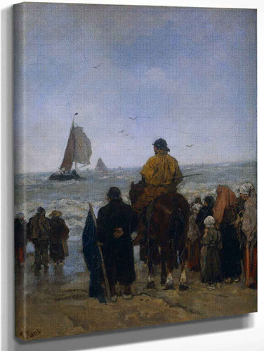 Arrival Of The Fishers' Boats By Jacob Henricus Maris Art Reproduction