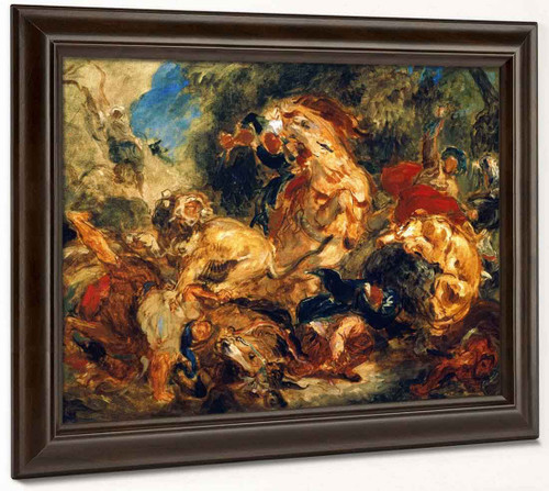Lion Hunt  By Eugene Delacroix By Eugene Delacroix