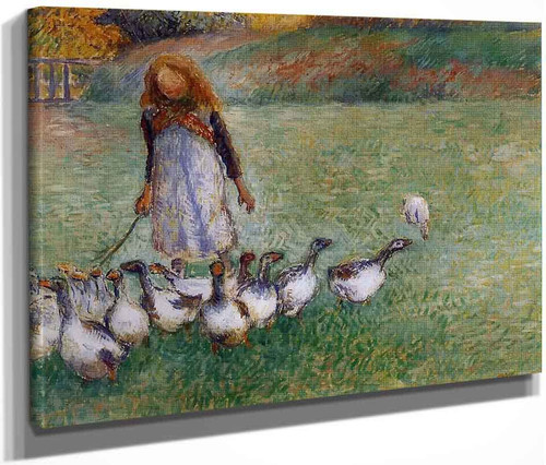 Little Goose Girl By Camille Pissarro By Camille Pissarro