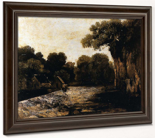 Locks On The Loue By Gustave Courbet By Gustave Courbet