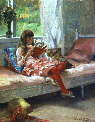 Artist's Sister Bertha By Albert Edelfelt