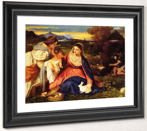 Madonna Of The Rabbit By Titian