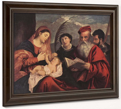 Mary With The Child And Saints By Titian