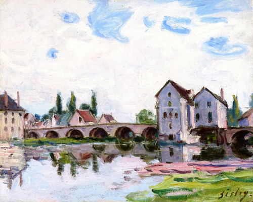 Moret Sur Loing By Alfred Sisley