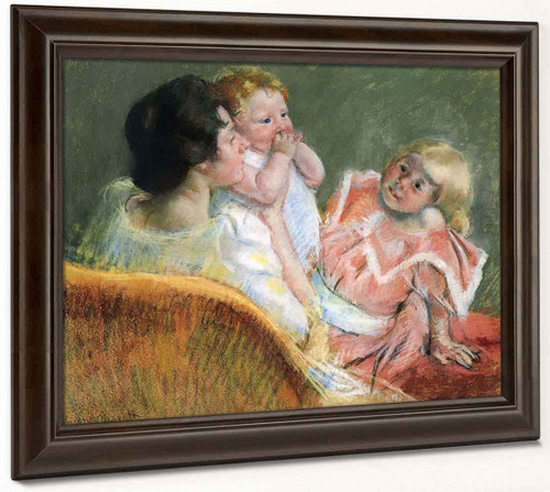 Mother And Children By Mary Cassatt By Mary Cassatt