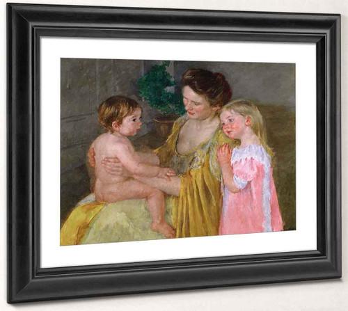 Mother And Two Children By Mary Cassatt By Mary Cassatt