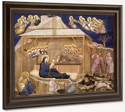 Nativity  By Giotto Di Bondone By Giotto Di Bondone