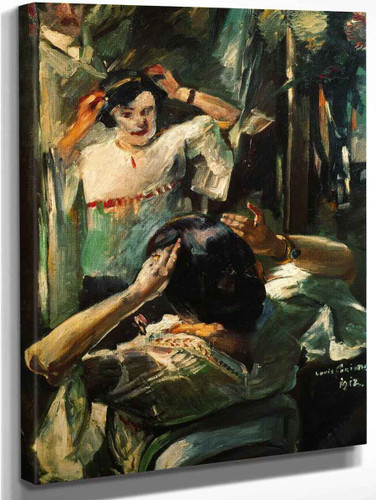 At The Mirror By Lovis Corinth By Lovis Corinth